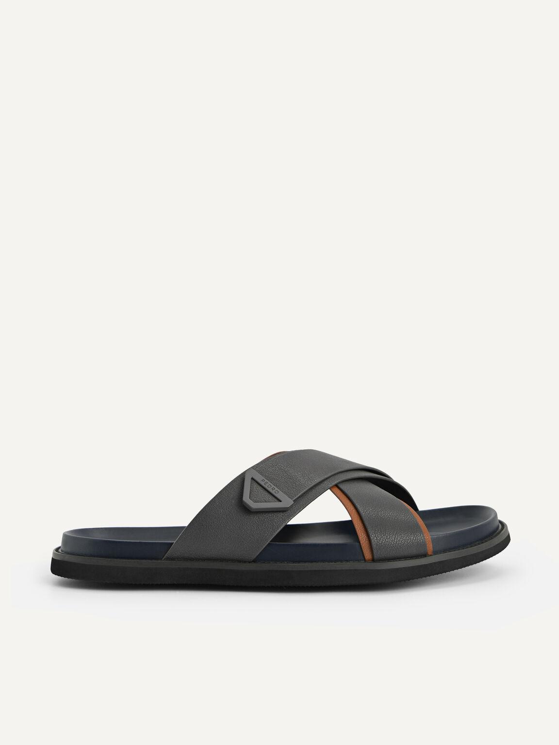 Criss-Cross Sandals, Navy, hi-res