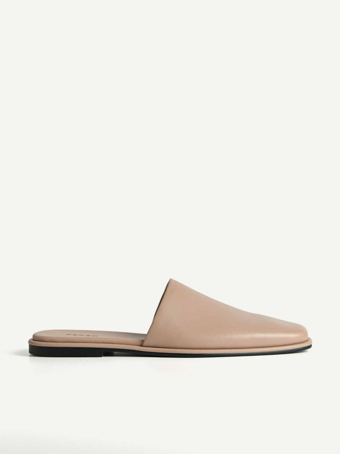Leather Mules, Taupe, hi-res