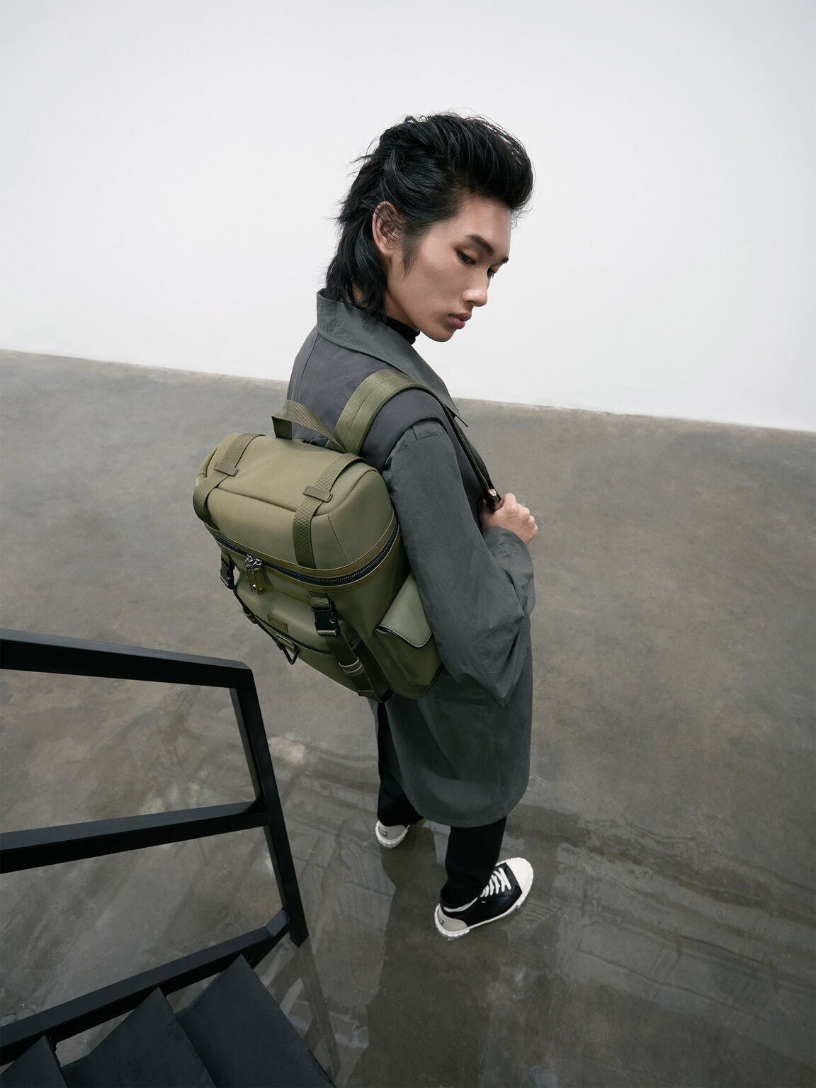 休閒肩包, 橄榄色, hi-res