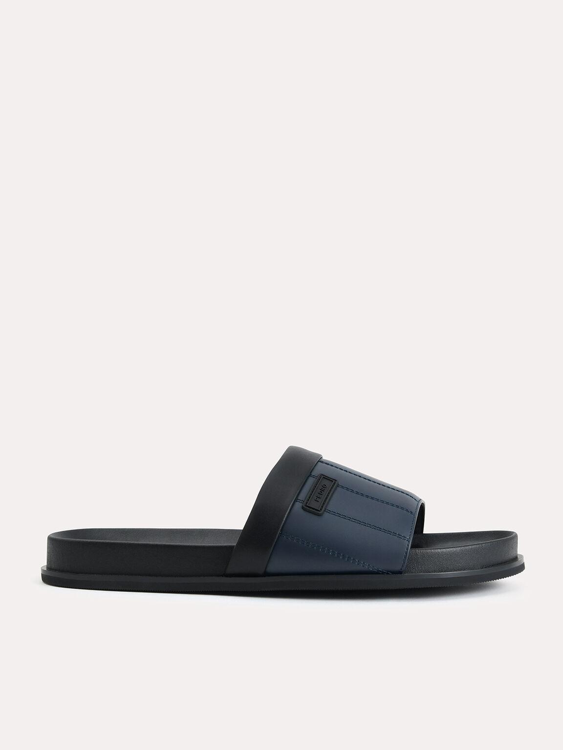 Padded Slides, Navy, hi-res