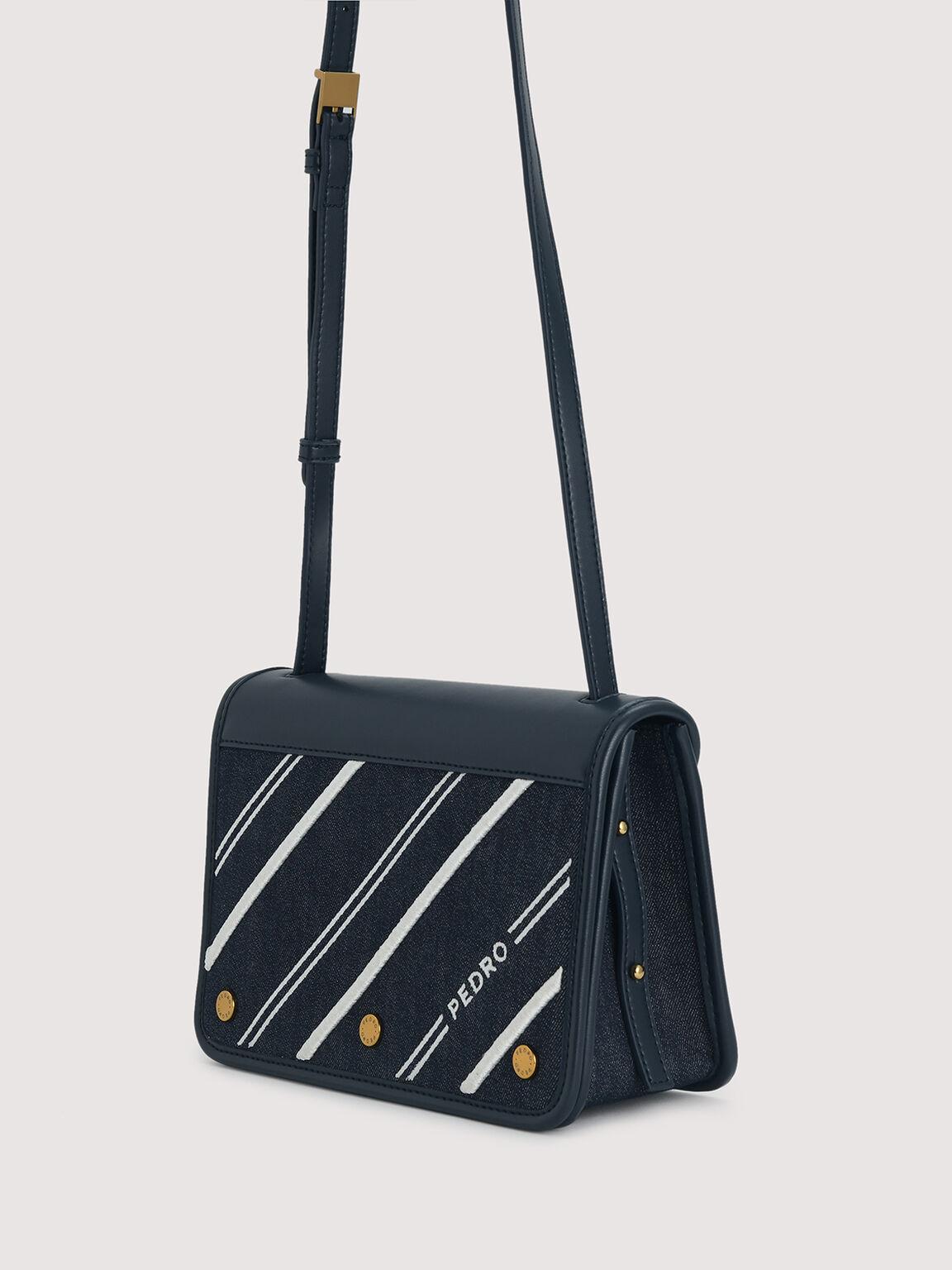 Sustainable Shoulder Bag, Navy, hi-res