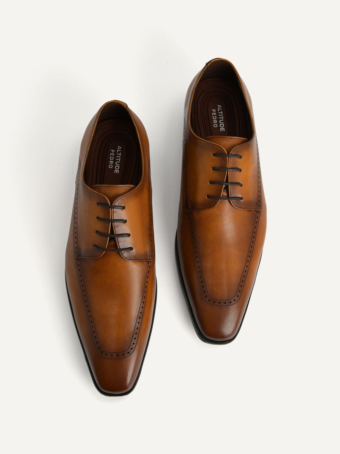 Altitude Leather Brogue Derby Shoes, Cognac, hi-res