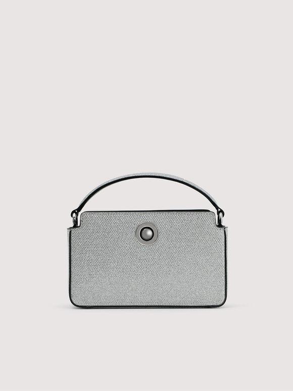 Glitter Bowling Bag, Silver, hi-res