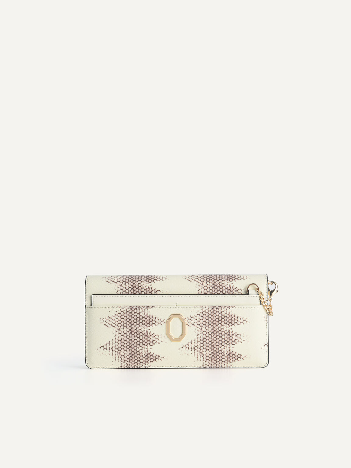 Long Snake-Effect Leather Wallet, Multi, hi-res