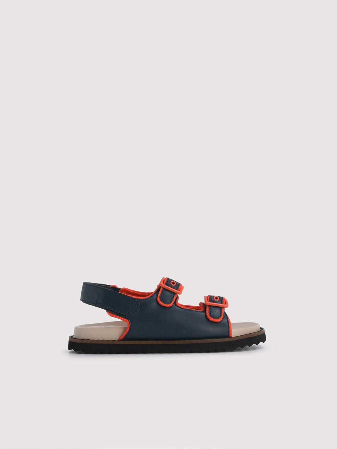 Slingback Sandals, Navy, hi-res