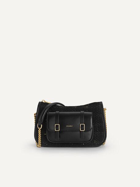 Tweet Shoulder Bag, Black, hi-res