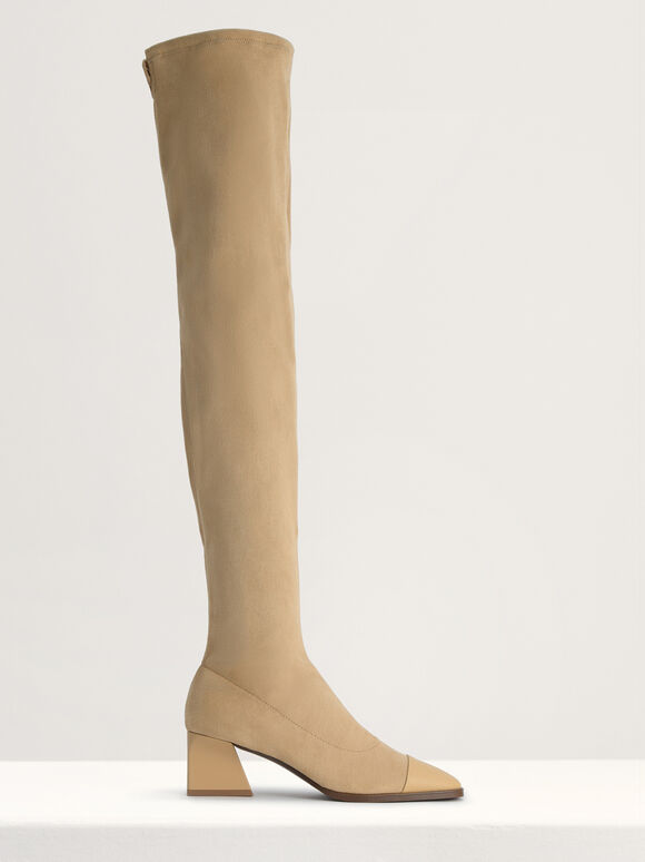 Knee High Boots, Camel, hi-res