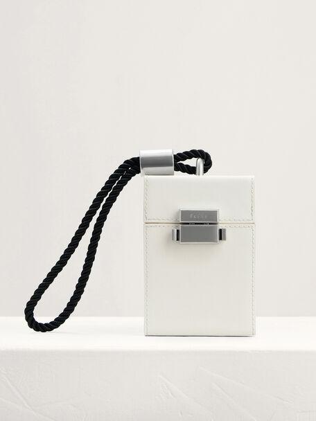 Micro Boxy Leather Bag, Chalk, hi-res