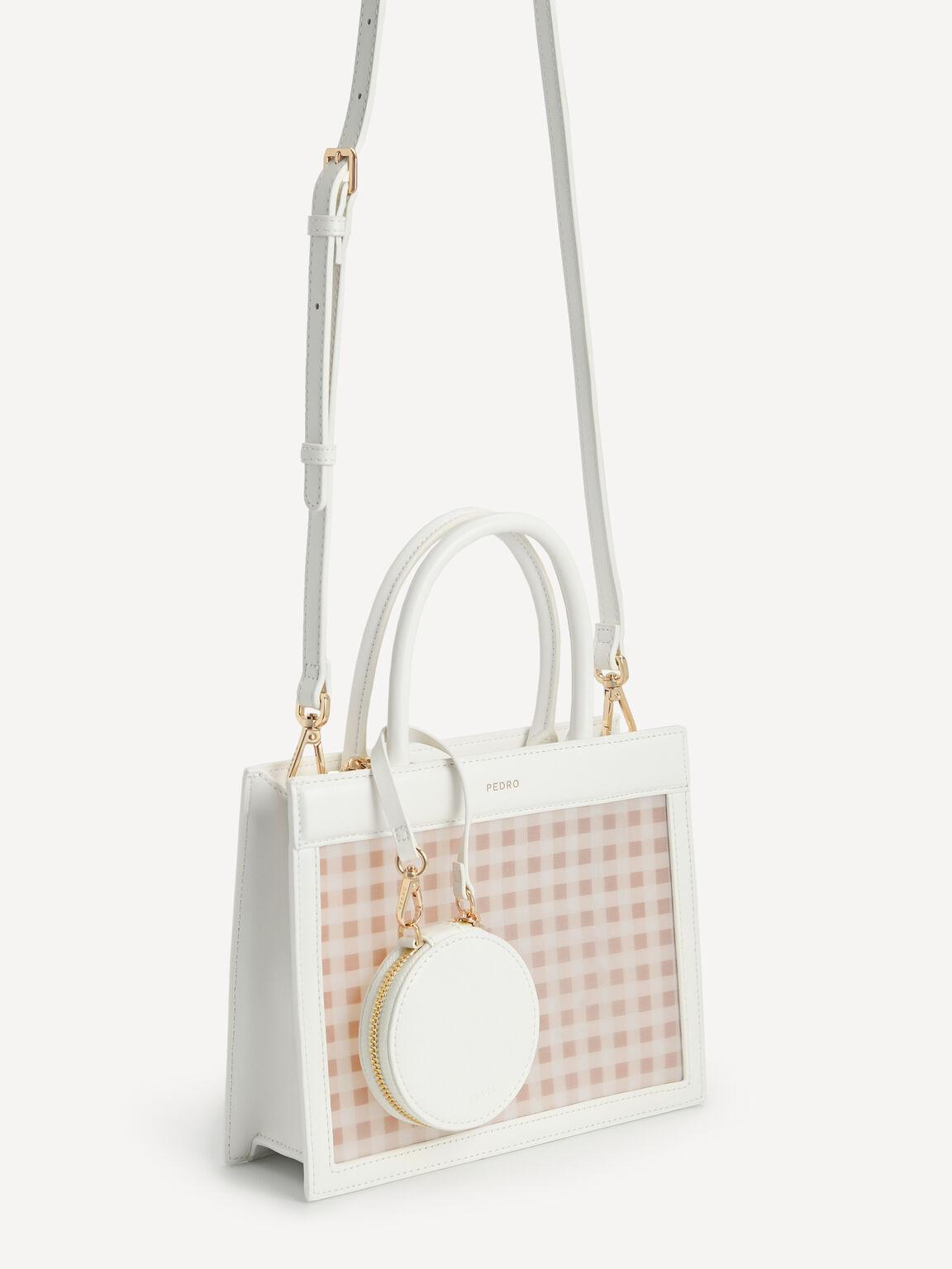 Gingham Top Handle Bag, Multi, hi-res