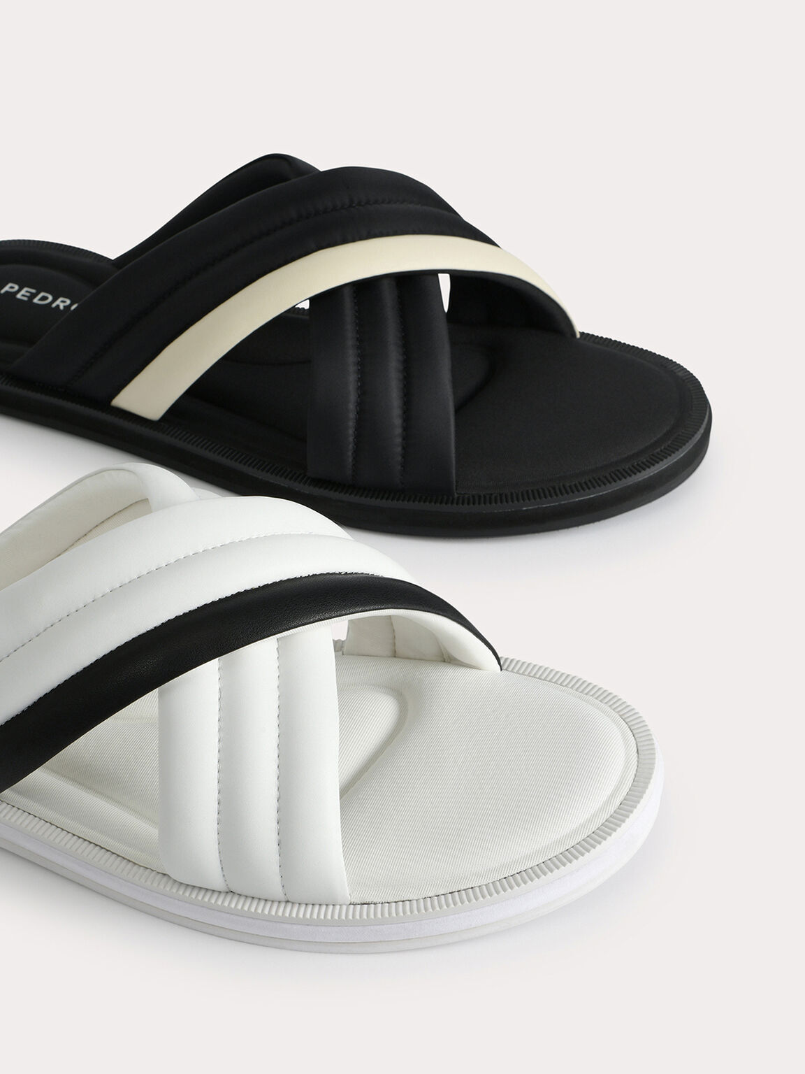 Criss-Cross Sandals, White, hi-res
