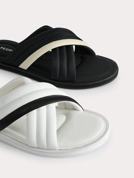 Criss-Cross Sandals, White, hi-res