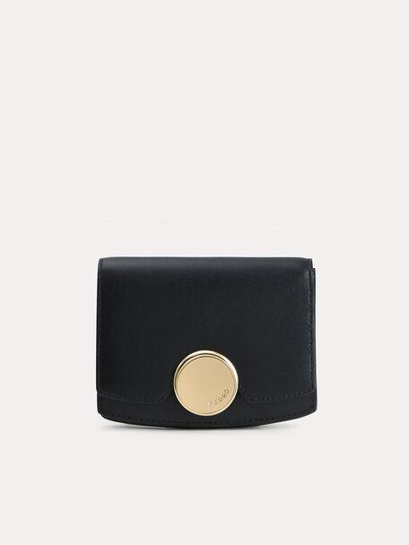 Leather Bi-Fold Wallet, Black, hi-res