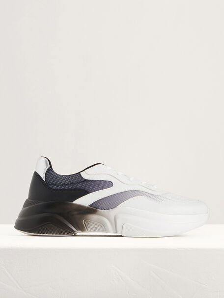Ombre-Effect Chunky Sneakers, Black, hi-res