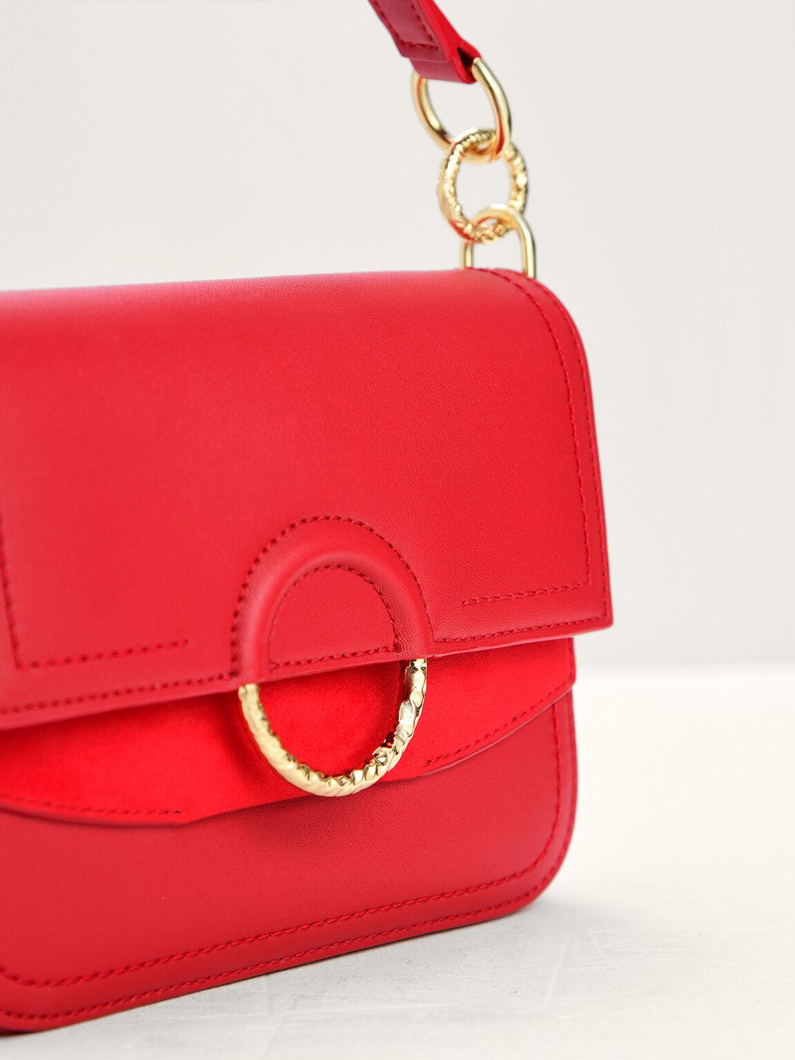 Twist Loop Top Handle Bag, Red, hi-res