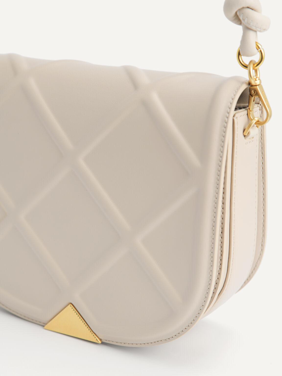 Quilted Shoulder Bag, Sand, hi-res