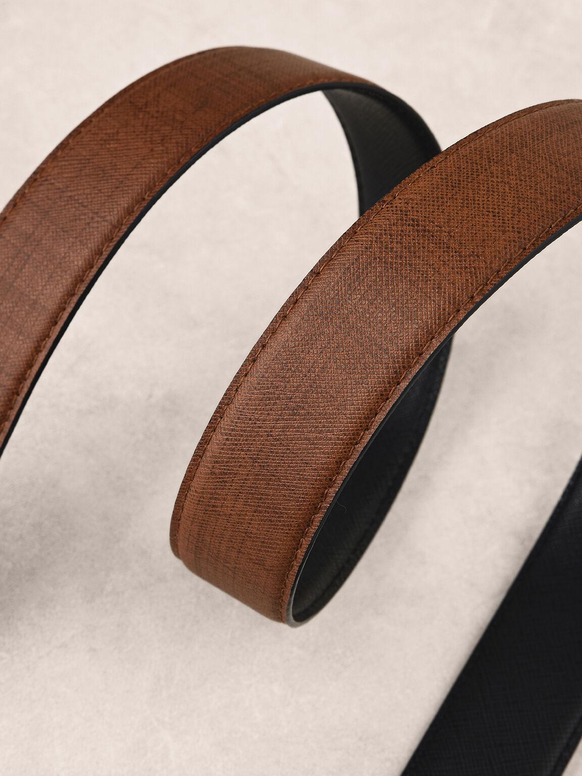 Reversible Leather Belt, Black, hi-res