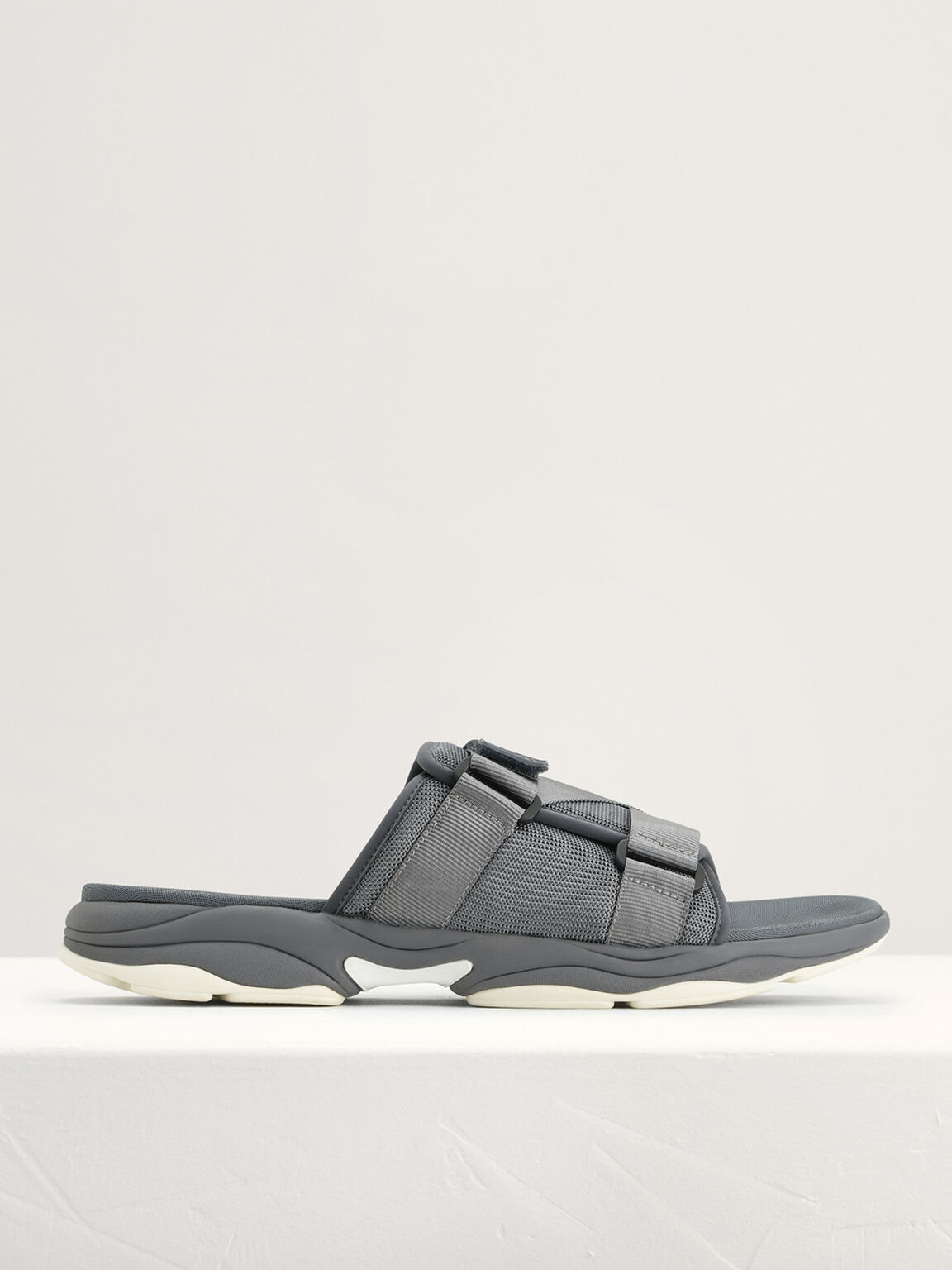 Velcro Sliders, Dark Grey, hi-res
