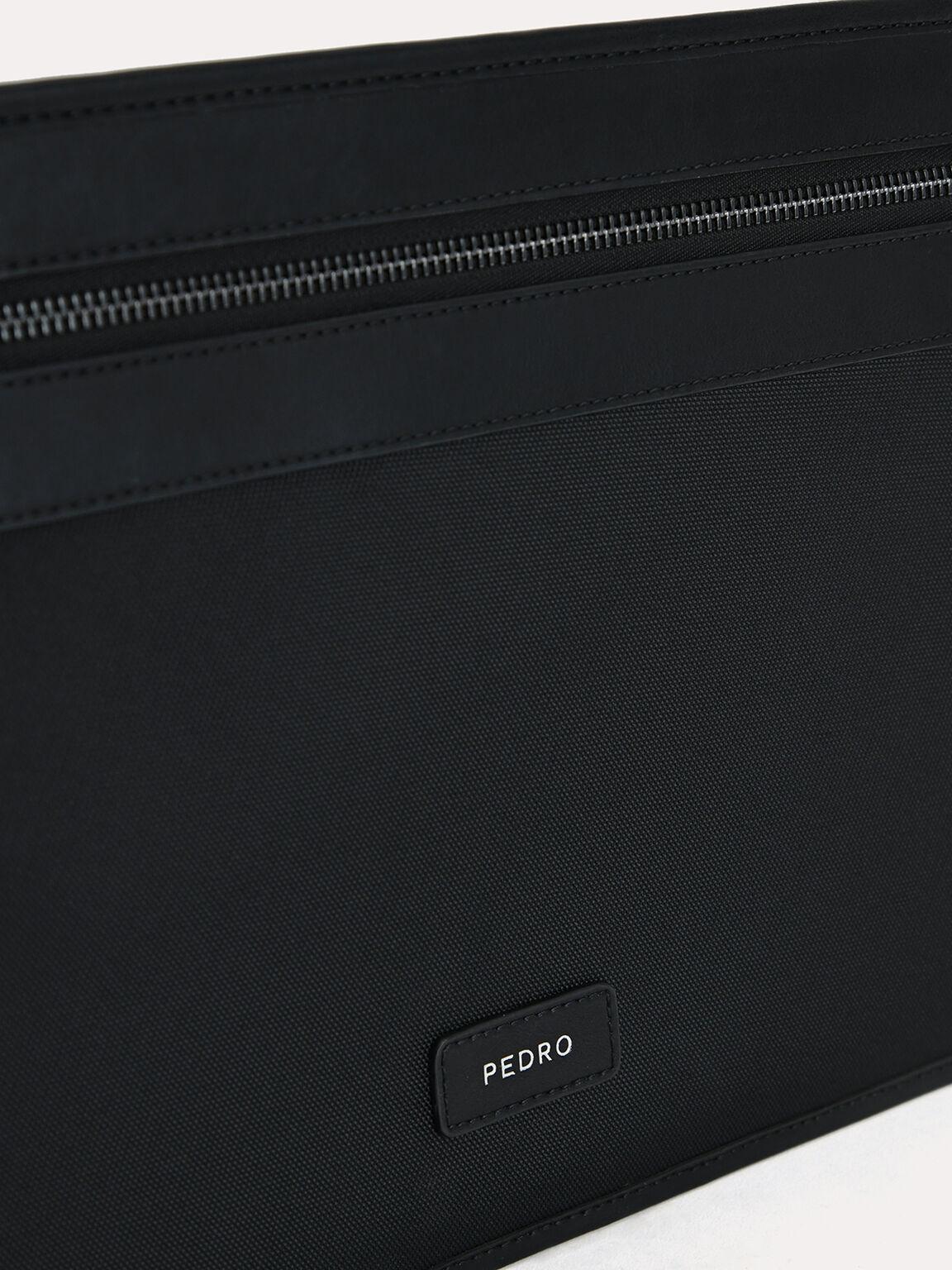 休閒公文包配太陽眼鏡罩, 黑色, hi-res