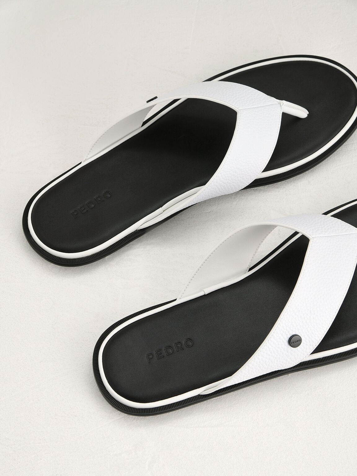 Casual Thong Sandals, White, hi-res