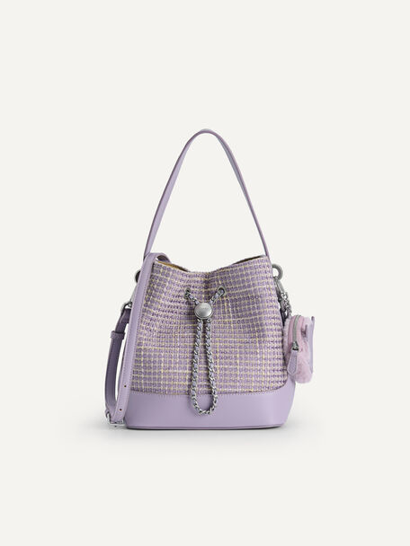 Tweed Bucket Bag, Lilac, hi-res