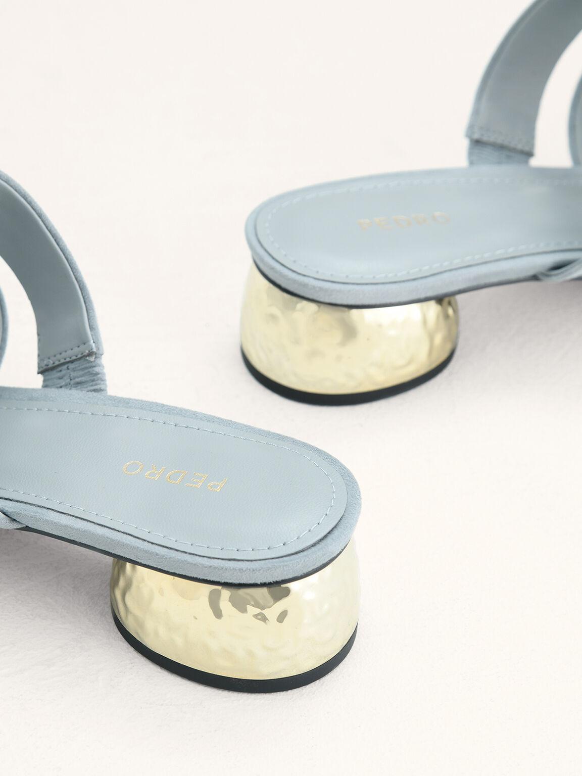 Strappy Heeled Sandals, Light Blue, hi-res