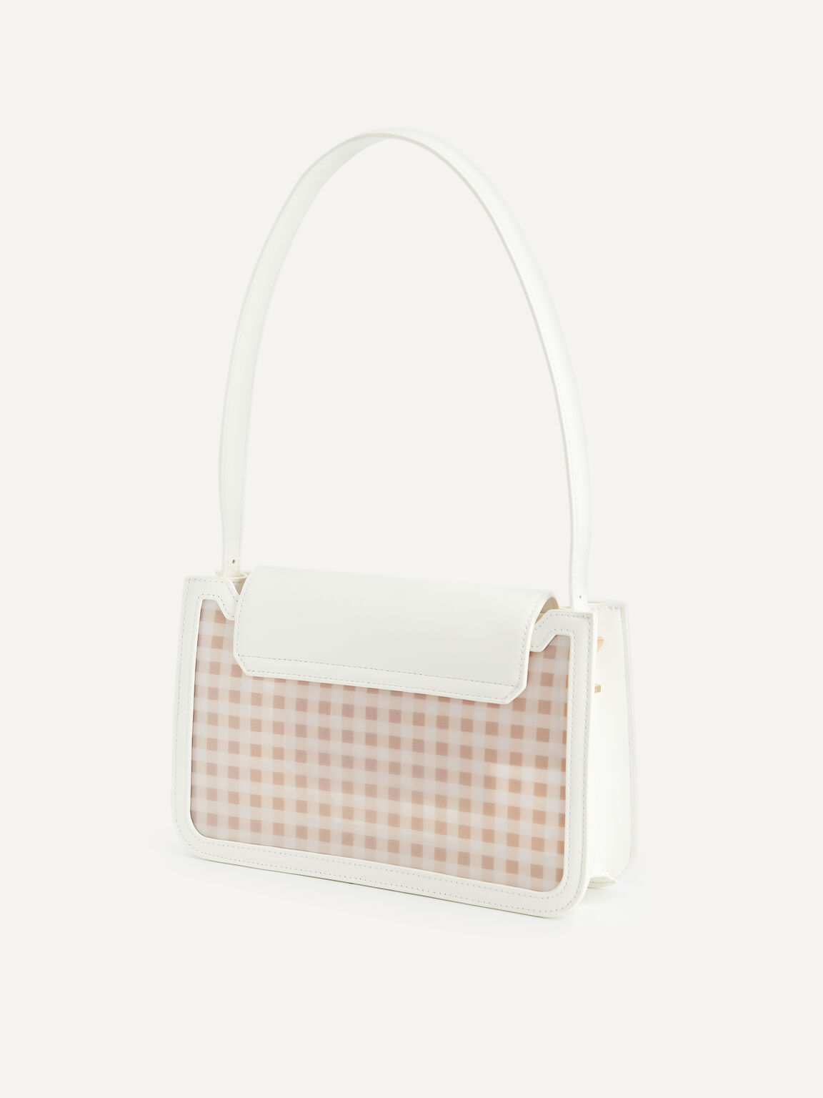 Gingham Shoulder Bag, Multi, hi-res