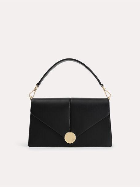 Post Shoulder Bag, Black, hi-res