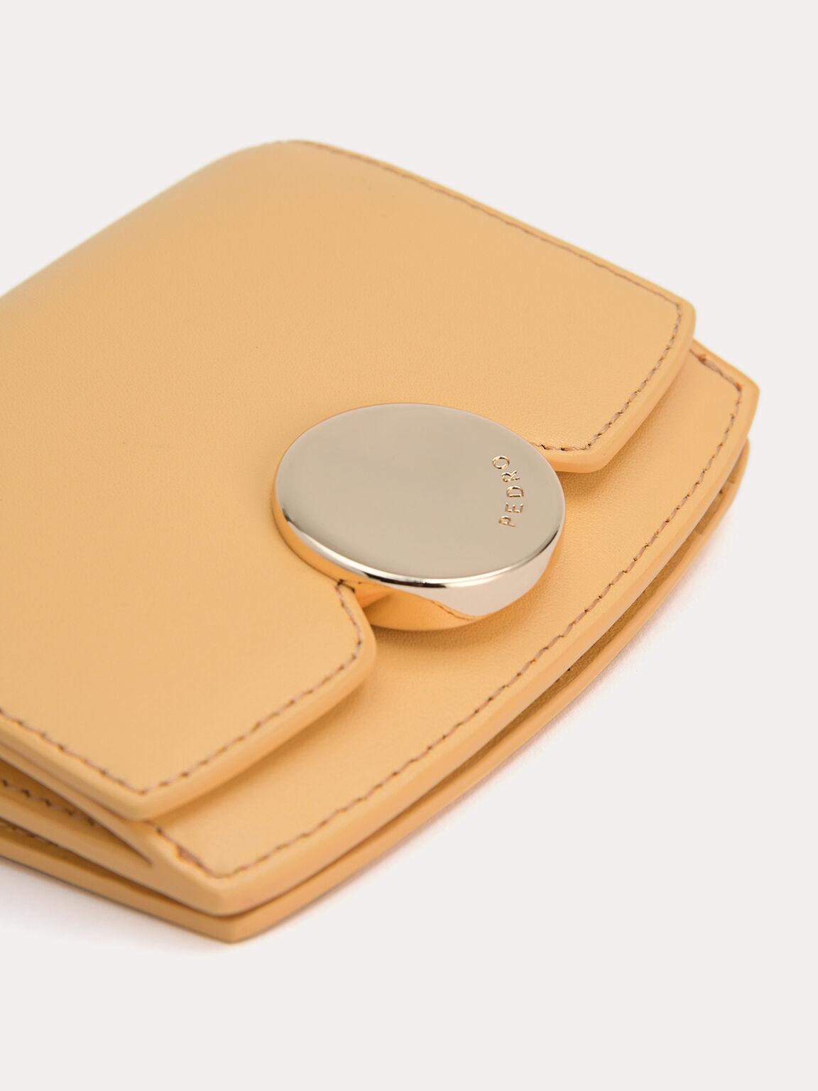 Leather Bi-Fold Wallet, Yellow, hi-res