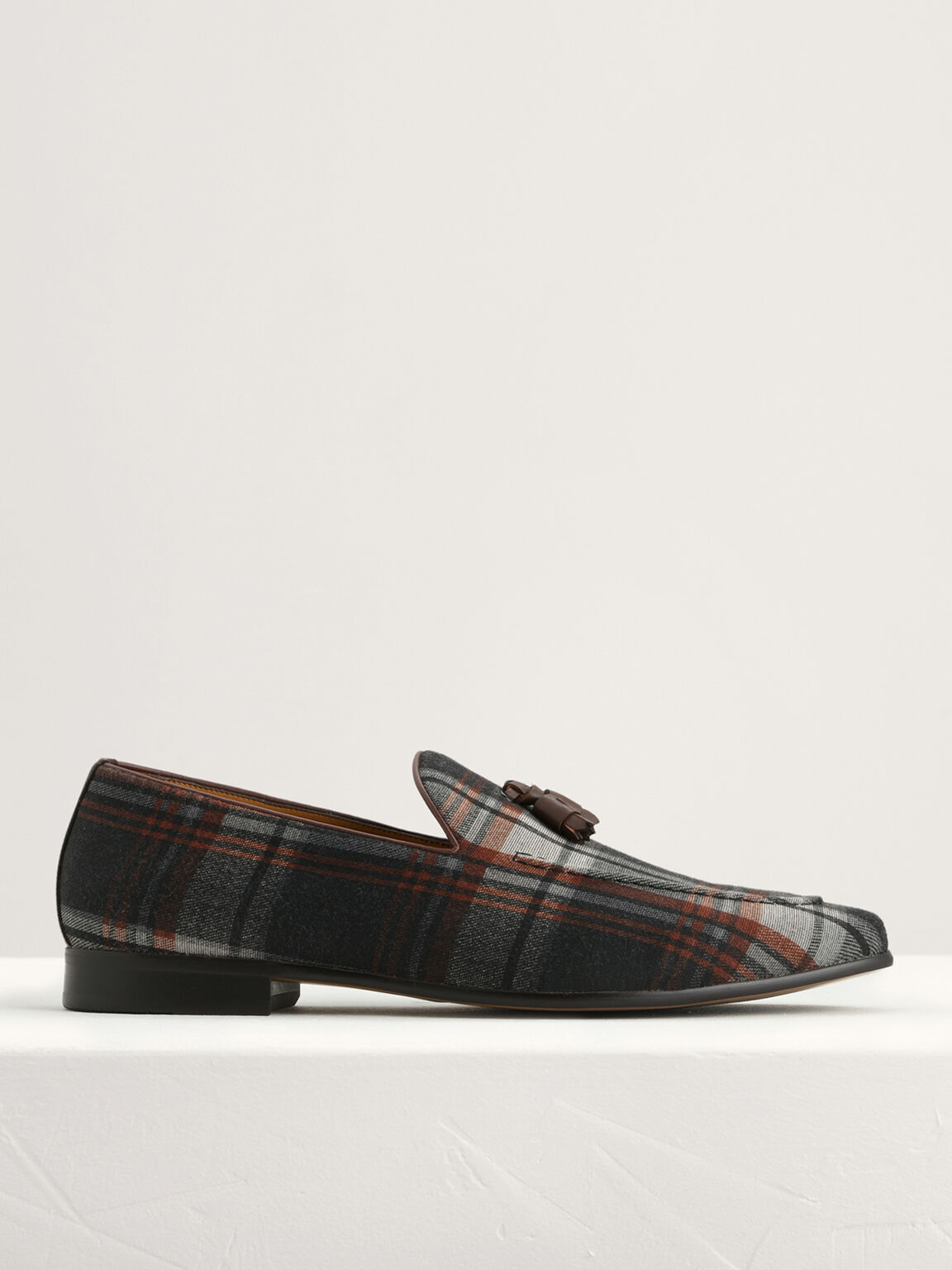 Leather Tasselled Loafers, Multi, hi-res