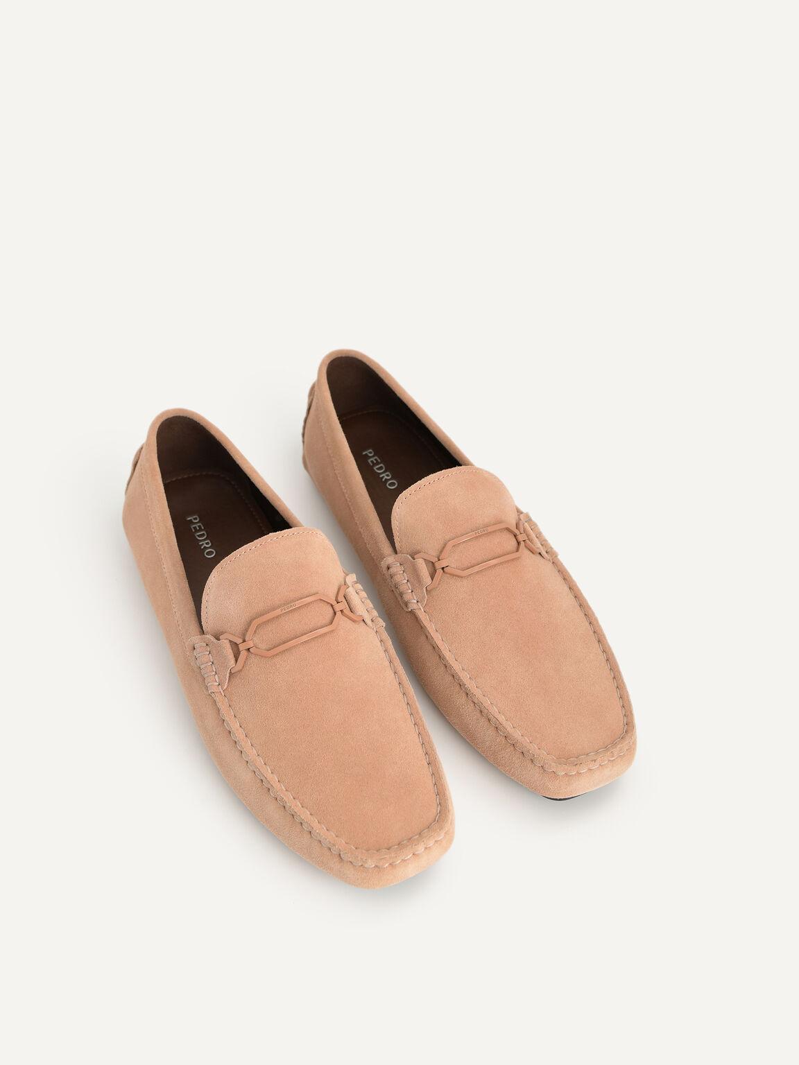 小羊皮莫卡辛鞋, 驼色, hi-res