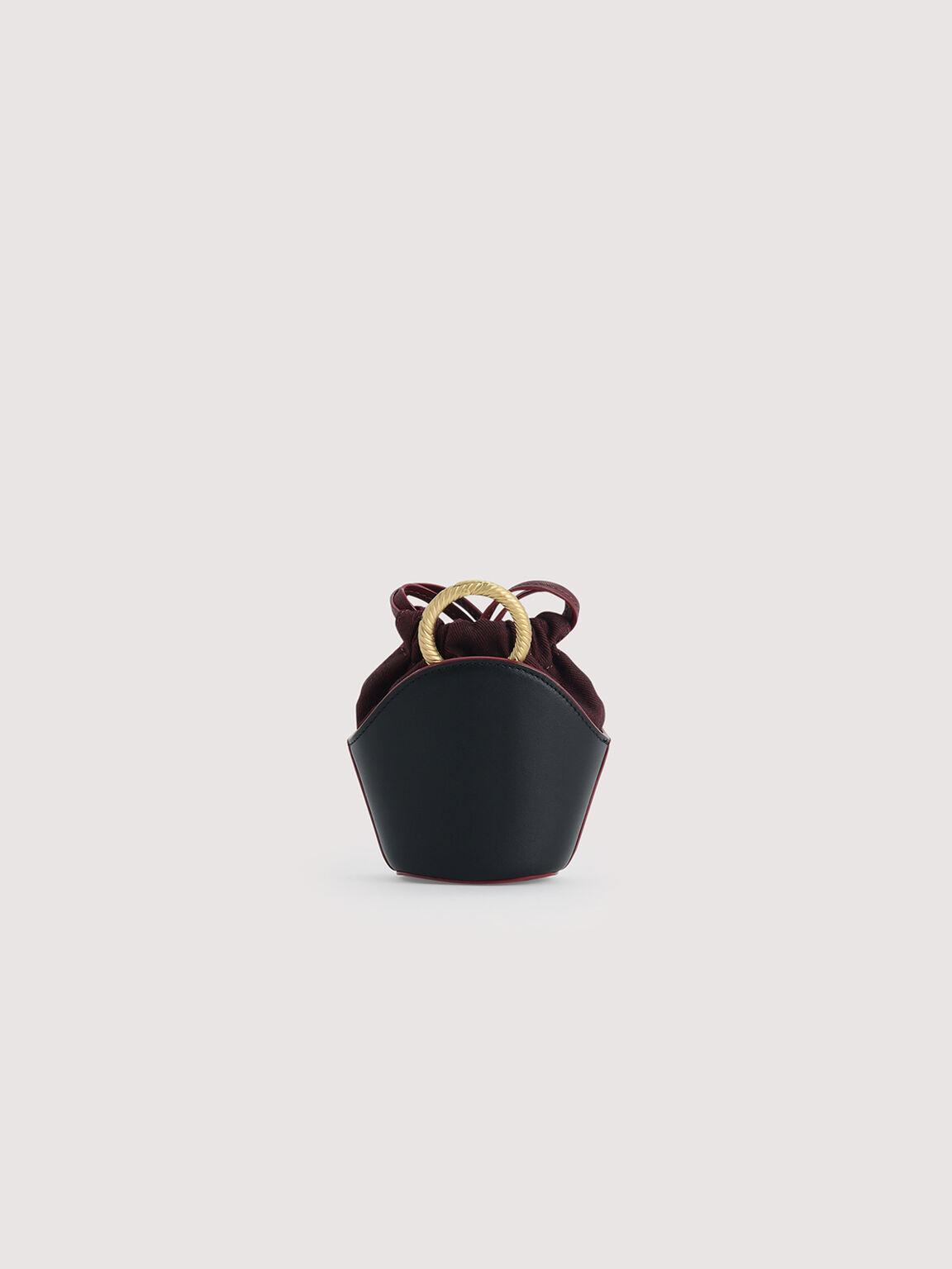 Leather Micro Shoulder Bag, Black, hi-res