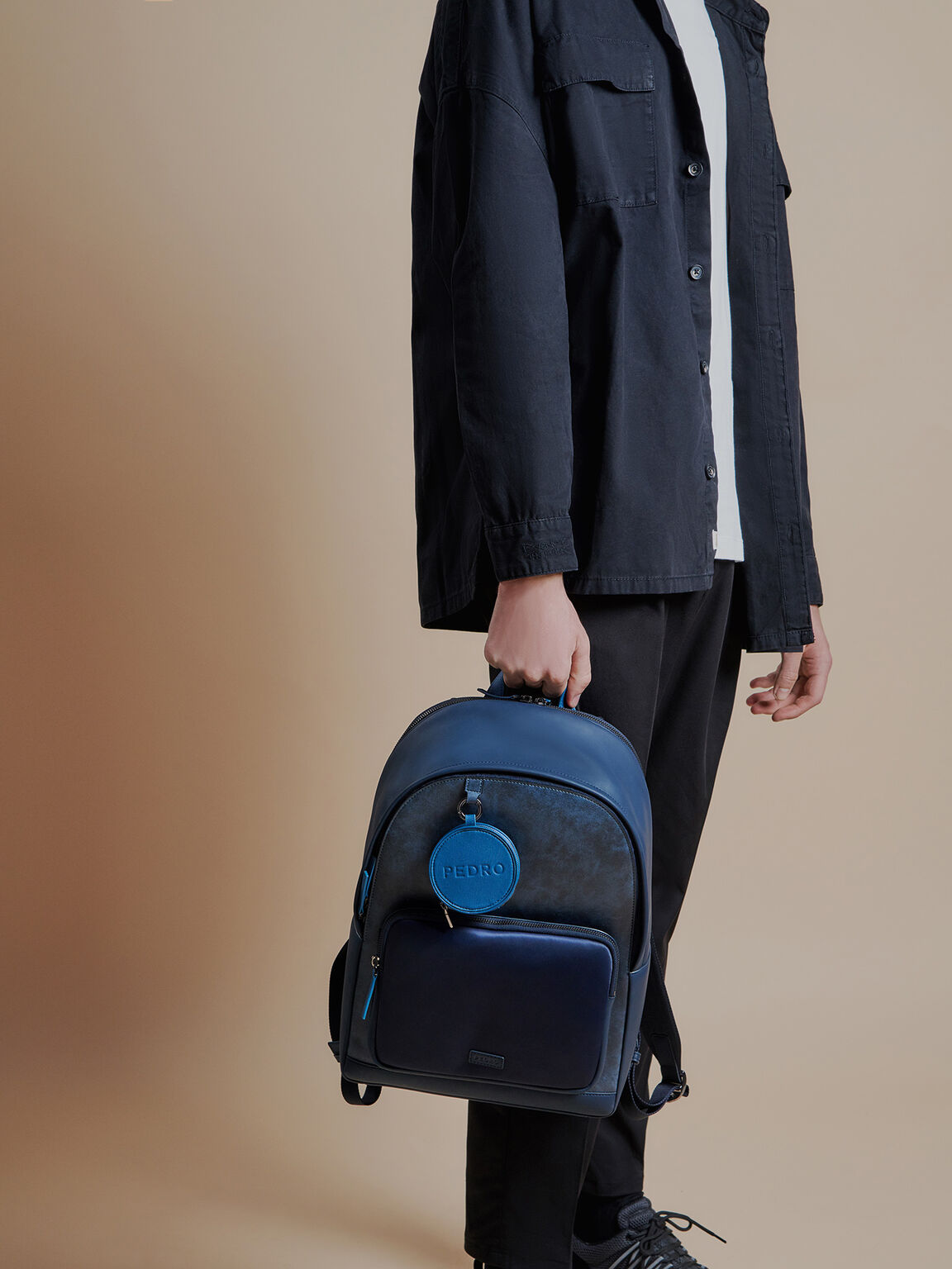 Casual Backpack, Navy, hi-res