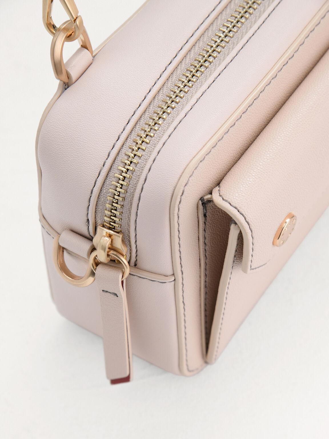 Braided Top Handle Bag, Cream, hi-res