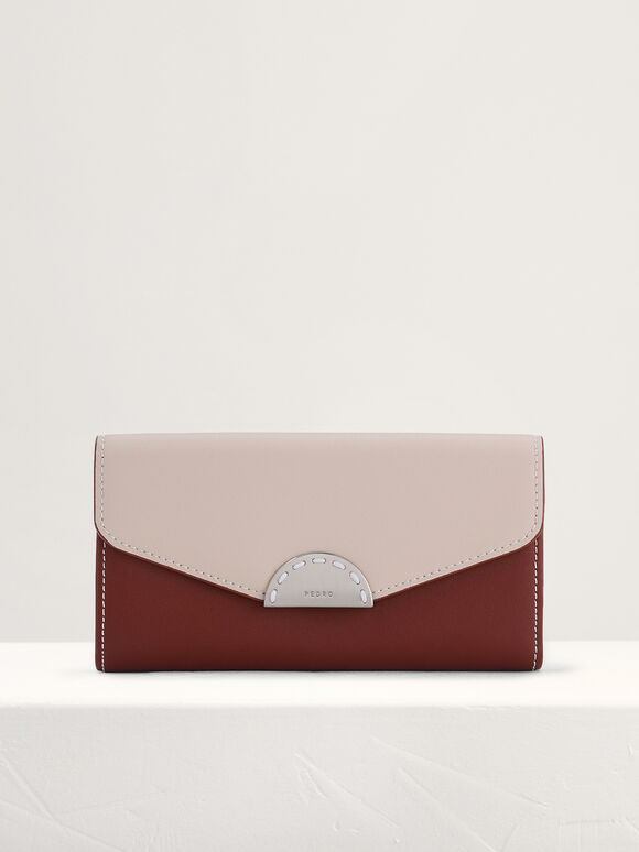 Long Leather Wallet on Chain, Multi, hi-res