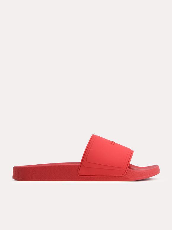 Casual Slides, Red, hi-res