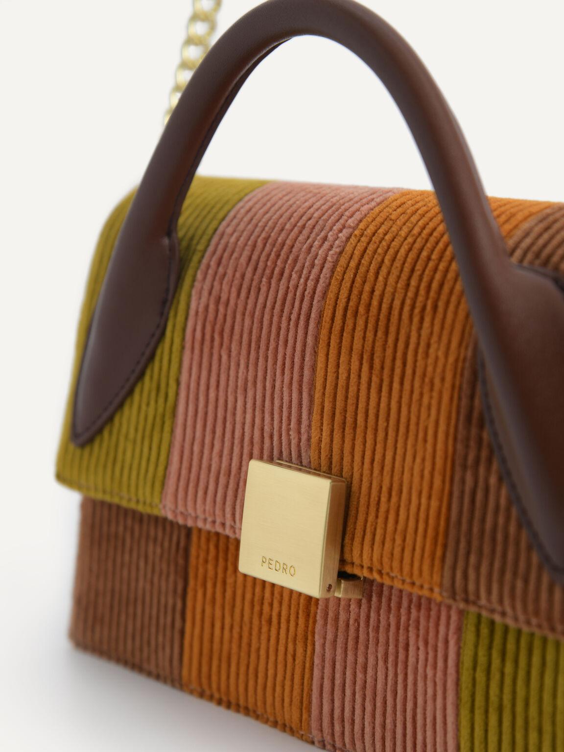 Corduroy Shoulder Bag, Multi, hi-res