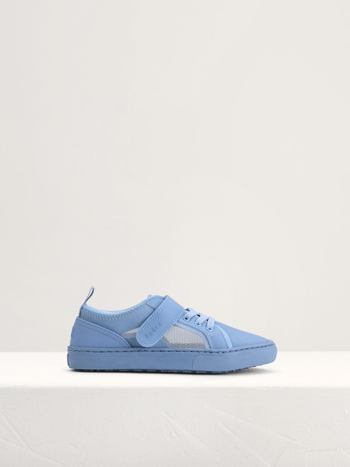 Monochrome Sneakers, Blue, hi-res
