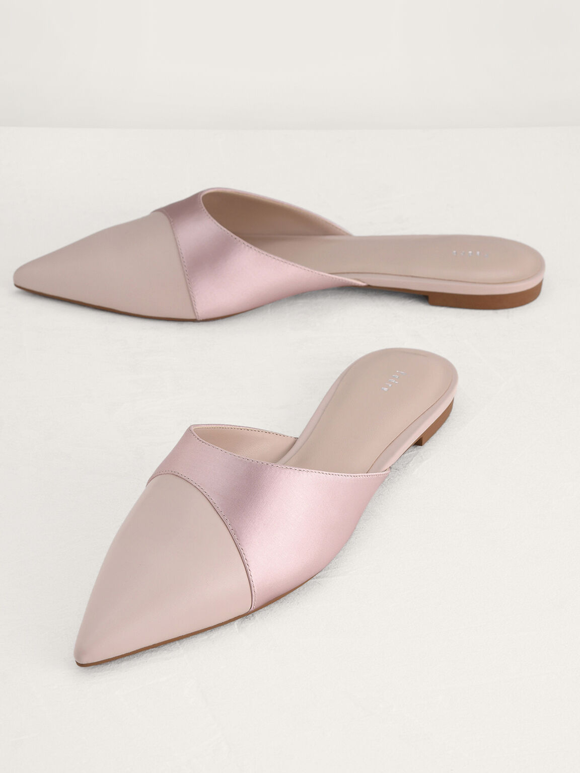Metallic Mules, Rose Gold, hi-res