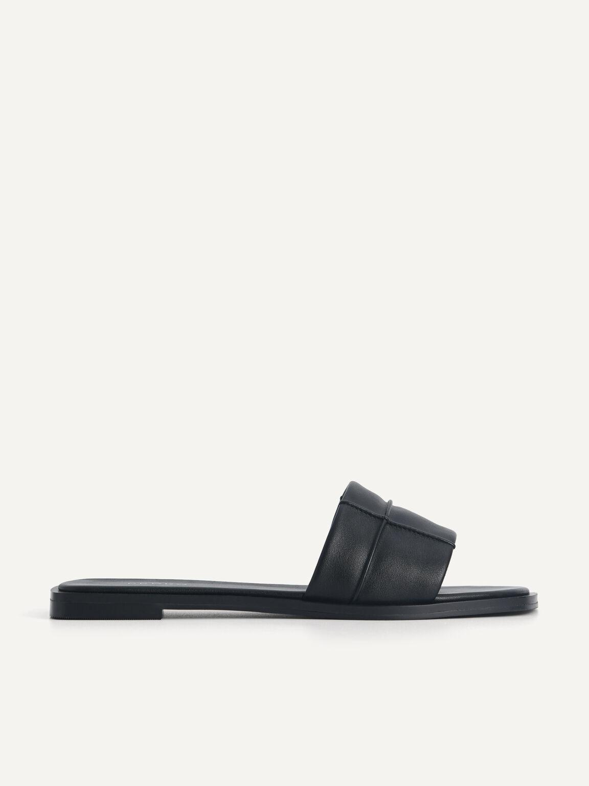 Slide Sandals, Black, hi-res