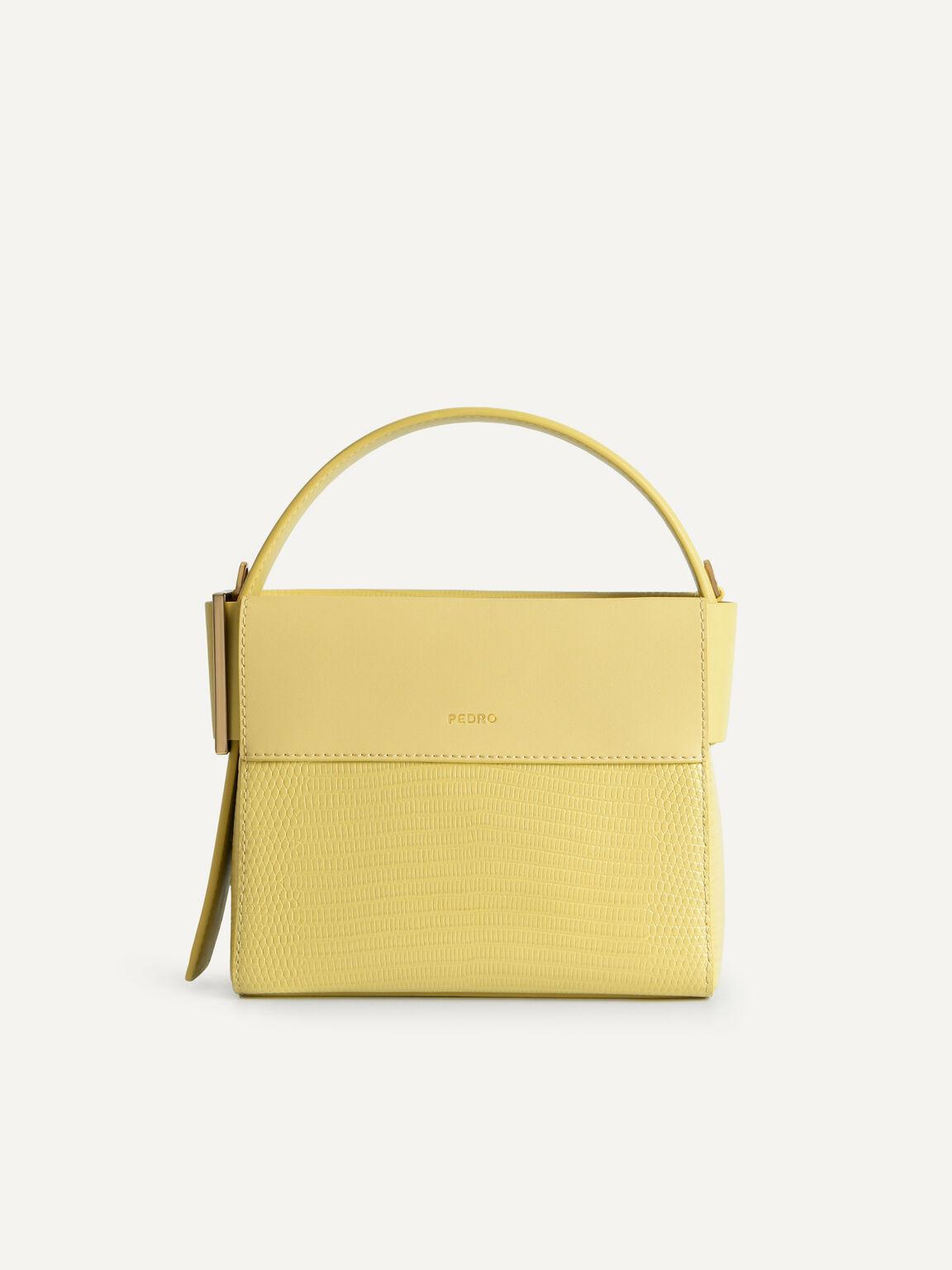 Lizard-Effect Leather Mini Bag, Sand, hi-res