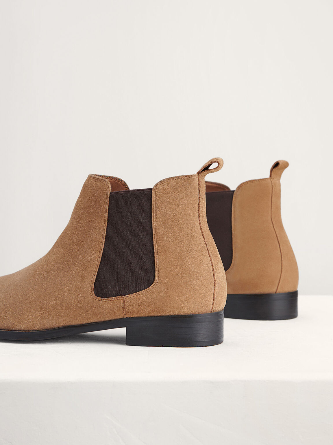 Suede Chelsea Boots, Camel, hi-res