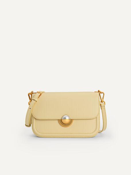 Orb Crossbody Bag, Light Yellow, hi-res