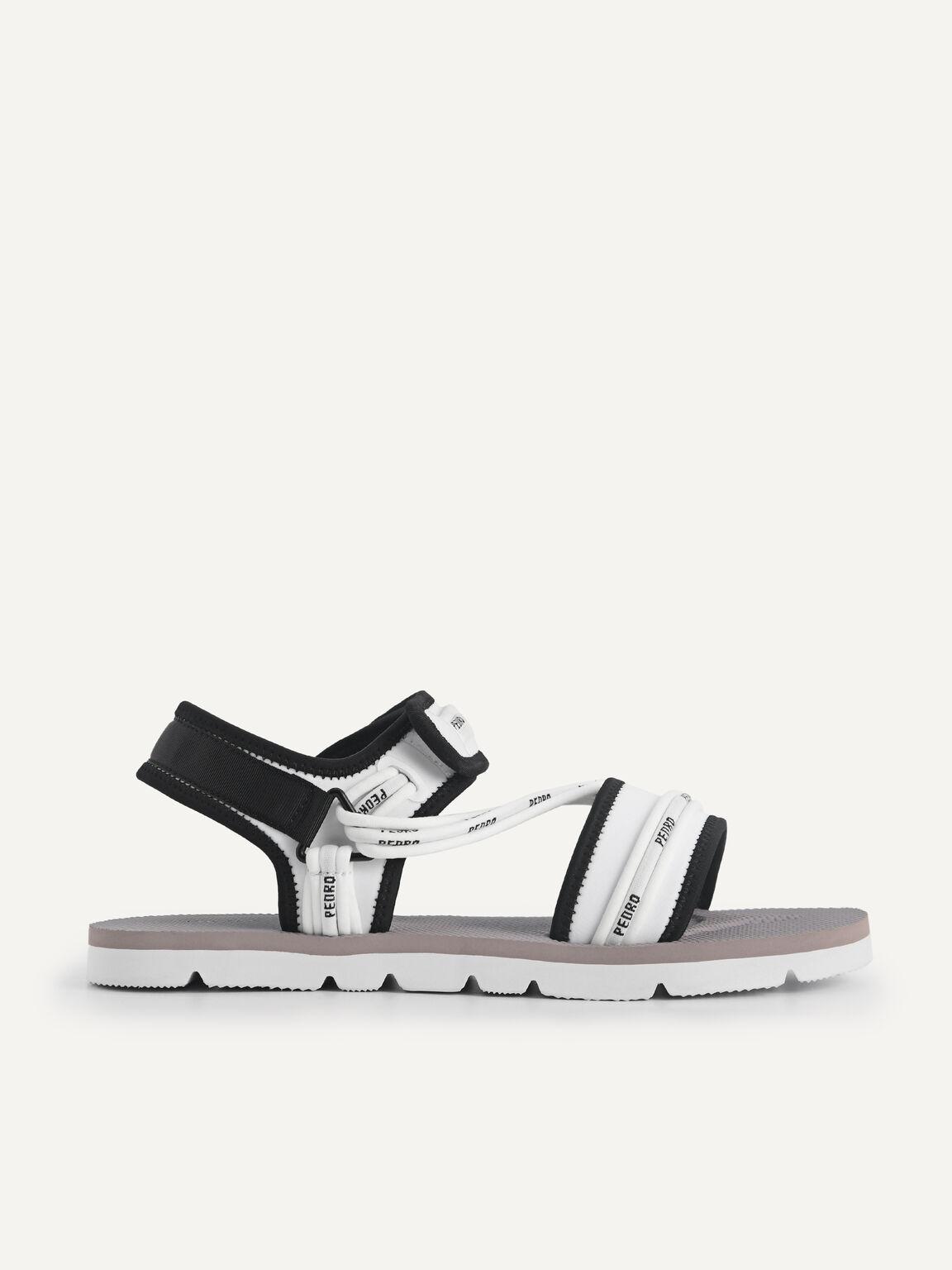 Slingback Sandals, White, hi-res