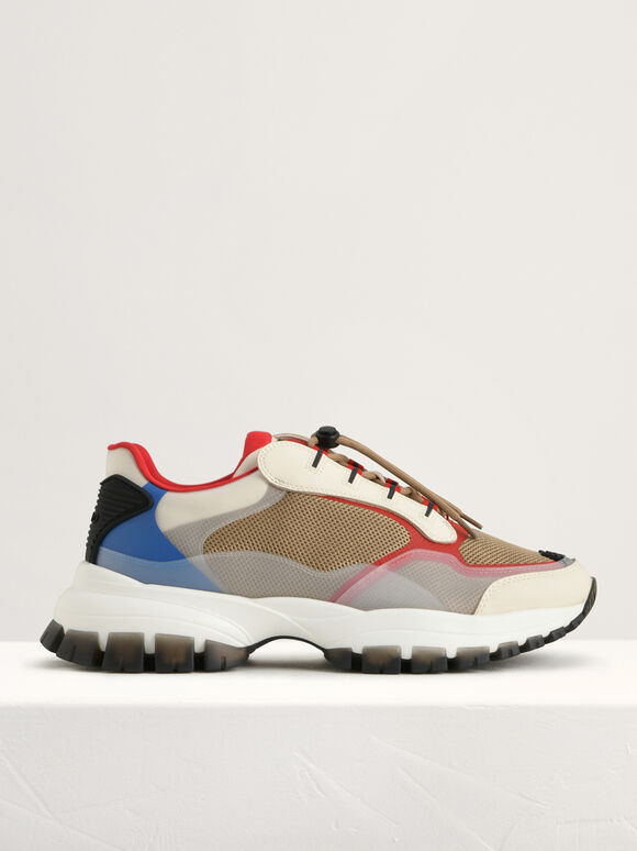 Chunky Transparency Sneakers, Multi, hi-res