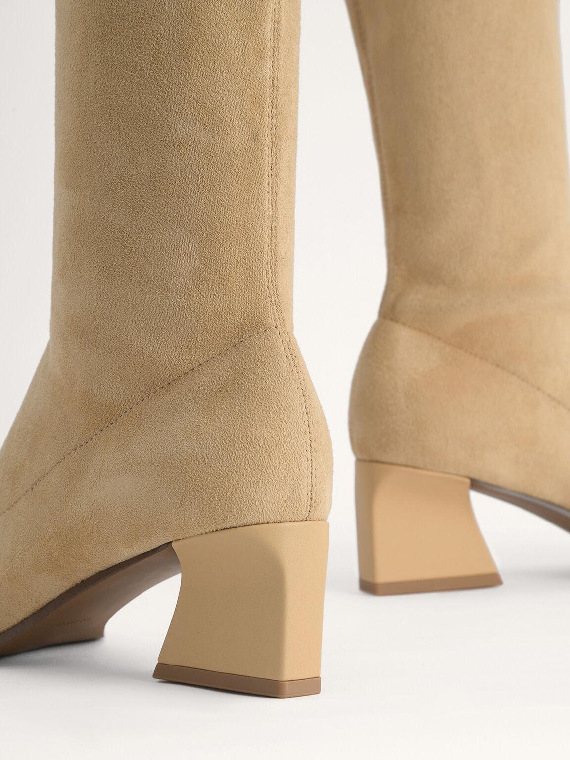 Knee High Boots, Camel, hi-res