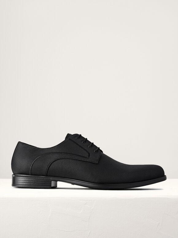 Pointed Toe Derby Shoes, Black, hi-res