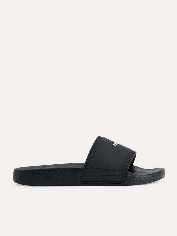 Casual Slides, Black, hi-res