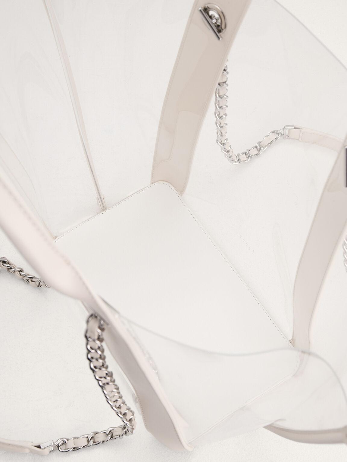 Large See-Through Tote Bag, Cream, hi-res