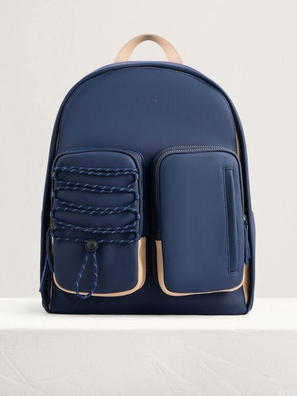 Utility Backpack, Navy, hi-res