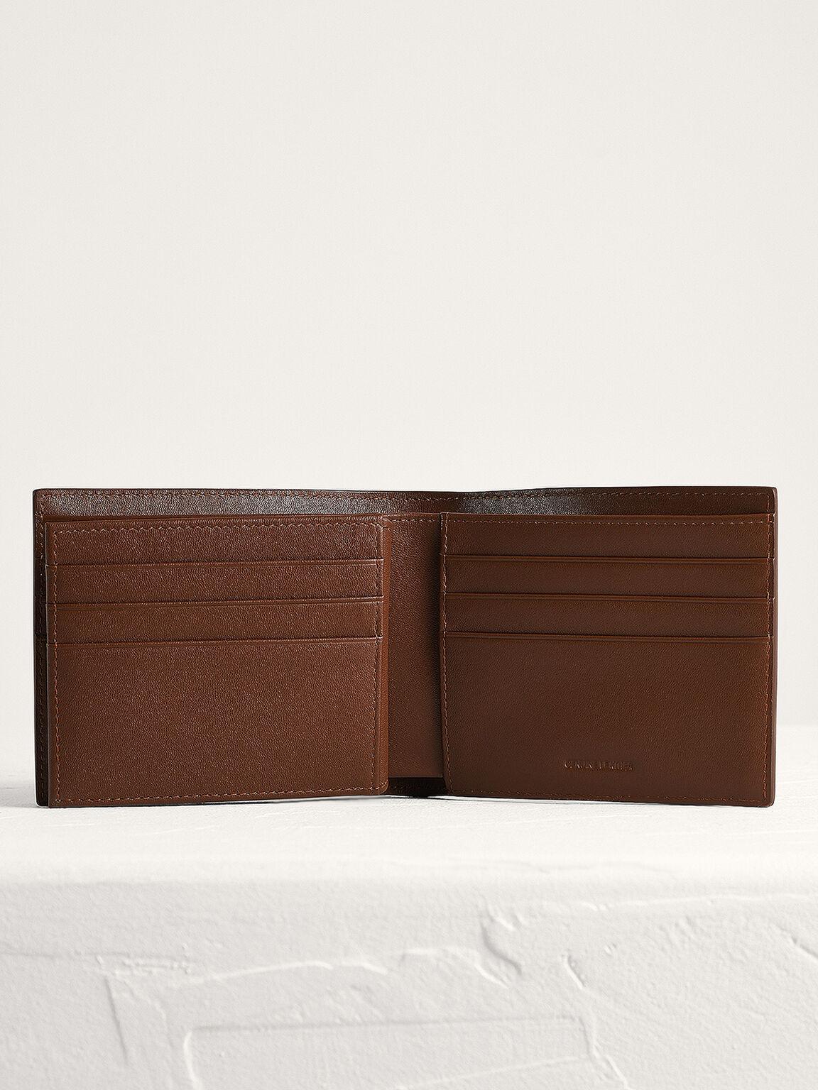 Leather Bi-Fold with Flip, Cognac, hi-res